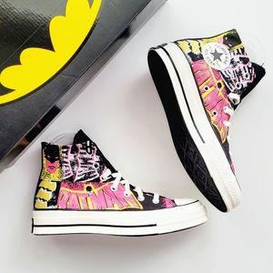 Converse x Batman Chuck 70 Hi Black/Hot Pink/Egret